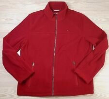 Tommy Hilfiger Mens Red Classic Full Zip Polar Fleece...