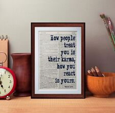 Wayne Dyer quote dictionary page art print gift books quote tv series quotes