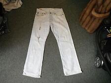 "Abercrombie & fitch hand crafted jeans w 32"" l 30"" délavé bleu clair jean homme"