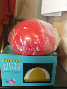 Preowned Photax Boxed Darkroom Safelight Filter Dome - Orange -