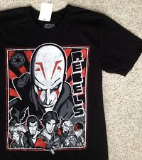 00a92d4cfa New (Adult Sm) STAR WARS REBELS T-SHIRT The Inquisitor Kanan Ezra Zeb