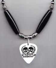 Green Day 21st Century Breakdown Skulz Guitar Pick Necklace