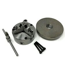 5 3 Jaw Self Centering Lathe Chuck Top Bottom Jaws 1 12 8 Adapter 0503a Fm