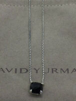 "David Yurman Sterling Silver 8mm Black Onyx Chatelaine Necklace, 16-17"" Chain"