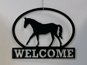 "Horse Welcome Sign Metal 16"" x 13"" Decor Hme Indoor/Outdoor"