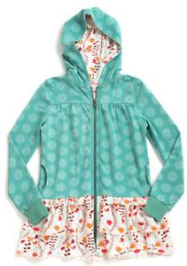Matilda Jane Girls 10 Hansel Hoodie NEW Teal Green Long Sleeve Hooded Jacket