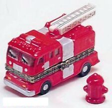 LITTLE RED FIRE TRUCK-Porcelain Hinged-Box-with HYDRANT