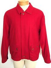 Rare Vintage Tommy Hilfiger Wool Blend Solid Red Men's Jacket Like New! Medium