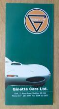GINETTA RANGE orig 1993 UK Mkt Sales Brochure - G27 G33 G34 Classic 4