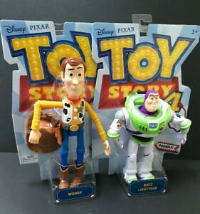 "Toy Story 4 Woody and Buzz Lightyear 7"" Action Figure Bundle Disney Pixar"