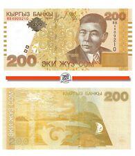 Kyrgyzstan 200 Som 2004 Unc pn 22a prefix BB.
