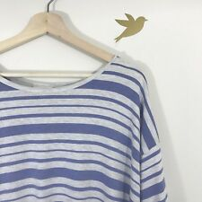 Lularoe Striped Irma Tee Blue And Gray Size Small S
