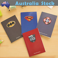 Mini Package SuperHero 4 Notebooks Batman Superman Transformer Captain America