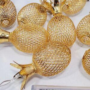Pineapple Party Lights Metal Mesh String Lamp Indoor Decor Lantern Battery Pack