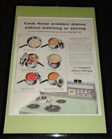 1955 Frigidaire Electric Ranges Framed ORIGINAL 11x17 Advertising Display