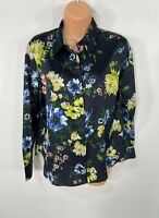 WOMENS MARKS&SPENCER SIZE UK 10 BLUE MIX FLORAL SMART/CASUAL BLOUSE SHIRT TOP