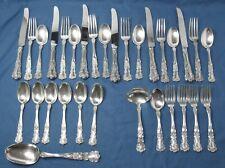 Antique Gorham Sterling Silver Buttercup 31 Piece Flatware 25 Monogrammed 878 gr