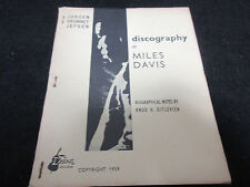 Jorgen Grunnet Jepsen Discography of Miles Davis Danish Book in 1959
