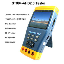 Portable 1080P HD-AHD Analog CCTV Camera Tester Multimeter PTZ Control 12V Out