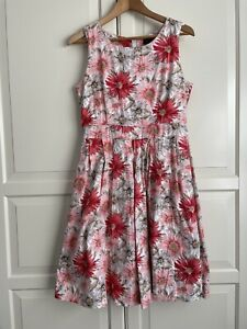 Caroline Morgan Cotton Fit And Flare Dress Size 12
