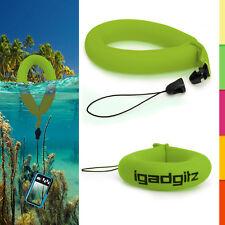 1 Green Floating Foam Wrist Strap for Waterproof Camera Go Pro Marine Binocular