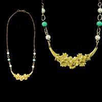 Vintage Art Nouveau Floral Necklace Pretty!