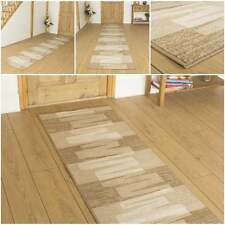 Veneto Beige - Hallway Carpet Runner Rug Mat Long Hall Anti Non Slip Gel Back
