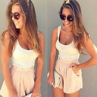 UK Womens Holiday Mini Playsuit Ladies Jumpsuit Summer Beach Dress Size 6 - 14