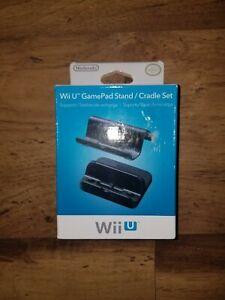 Genuine Nintendo Wii U Black GamePad Stand/Cradle Set WUPADTKA USZ BRAND NEW