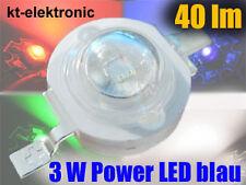 3 Stück Power LED Emitter 3W 700mA blau 40lm