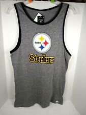 Men's Pittsburgh Steelers Tank top Gray Small  New
