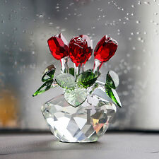 Mothers Day Gift Ideas Presents Gifts for Mum Flower Crystal Rose Paperweight