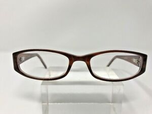 Cindy Eyeglasses J.G Hook Lifestyles 54-18-135 Brown Clear Jewel Silver G327
