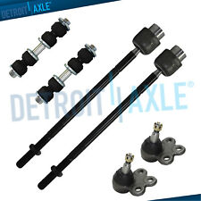 6pc Kit - 2 Lower Ball Joints, 2 Tie Rod Ends, 2 Front Stabilizer Sway Bar Links