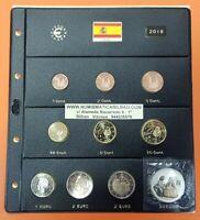 ESPAÑA 2019 MONEDAS EURO SC + HOJA DE PARDO + 2 EUROS AVILA + 30€ PLATA MENINAS