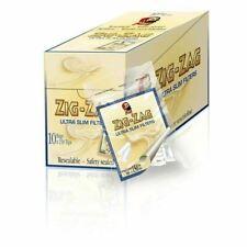 10x 150 Zig Zag Ultra Slim Cigarette Rolling Smoking Filter Tips Resealable Bag