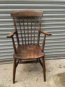 19th Century Country Carver Chair#2