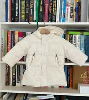 RALPH LAUREN baby boy girl ski padded cream feather down hood jacket RP$350 18M