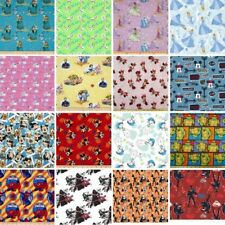 Huge Sale Branded Patchwork 100% Cotton Fabric 25 Designs Disney Marvel & More
