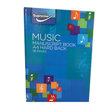 Music Manuscript Book Hard Back 96 Pages A4 Book - 48 Sheets