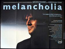 MELANCHOLIA 1989 Jeroen Krabbé, Susannah York, Ulrich Wildgruber UK QUAD POSTER