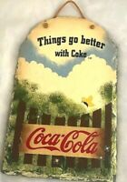 Coca Cola Slate Sign Things Go Better With Coke Stone Wall Hanging Vintage