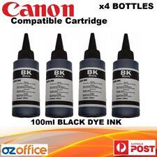 BRAND NEW 4 x Canon Dye Ink Cartridge 100ml Bottle Pixma IP7260 MG5460 MG636o