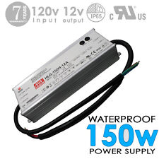 150W 12V 12A DC UL Waterproof-Outdoor Power Supply/Adapter MEAN WELL-HLG (#2925)