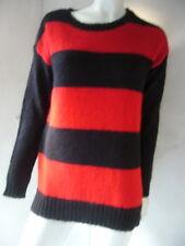 Hallhuber Suéter Negro/Rojo con Mohair Talla L/XL con Etiqueta Nuevo