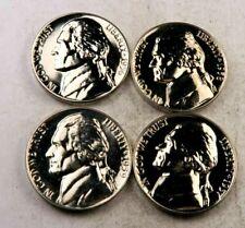 1956+1957+1958+1959 Jefferson Nickel Lot // Gem Proof *Full Steps* // 4 Coins