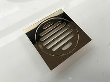 Gloss Rose Gold Floor Waste Grate Drain Bathroom Shower Outlet 100 mm outlet