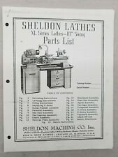 Sheldon 10 Inch Swing XL Series Lathe Parts Manual