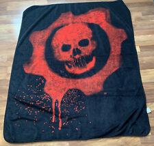 Gears of War Crimson Omen Skull Xbox Game Plush Throw Blanket