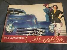 1940 Chrysler New Yorker Windsor Saratoga Royal Brochure Catalog Prospekt